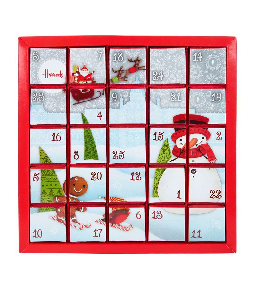 calendrier de l'avent rouge à thé pour femme noël