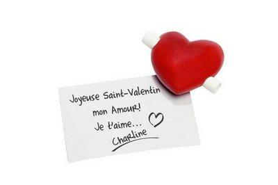 Cadeau pour tous, message avec coeur