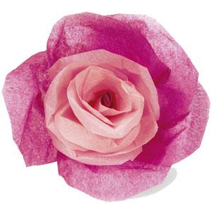 Faire une rose en papier cadeau pour tous - Fleur en papier crepon pliage ...