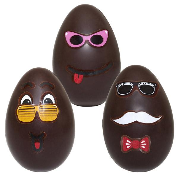 Cette Année, Du0027lys Couleurs Vous Surprend Avec Des œufs En Chocolats Très  Drôles, Les Rigolu0027oeufs. Avec Des Têtes Dessinées Dessus, Des Yeux, Un Nez,  ...