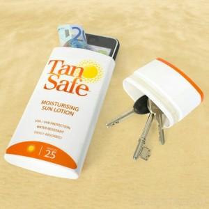 tube crème solaire cachette