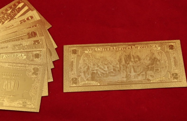 Gold-banknote